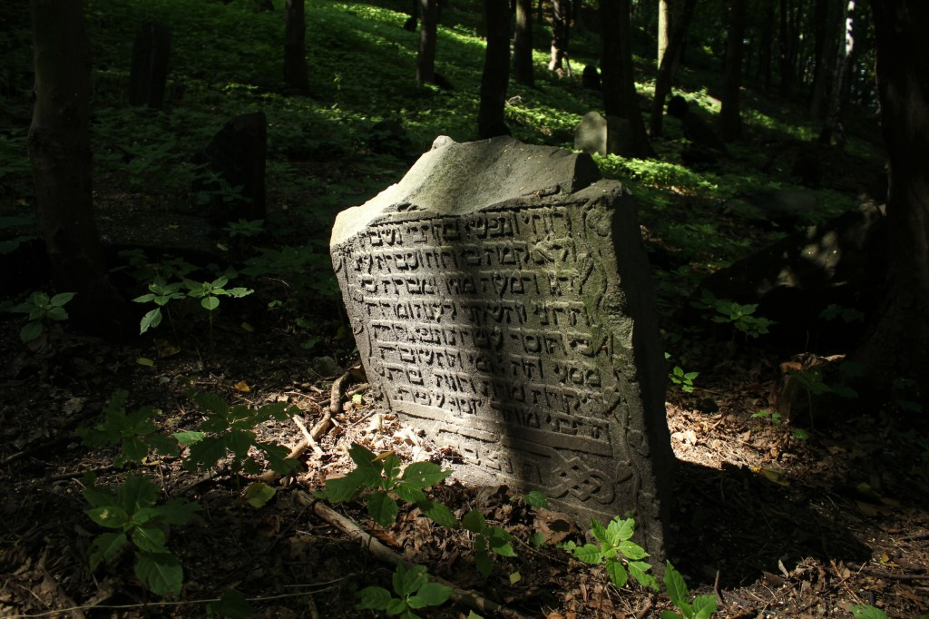 Stone at the Jewish cemetery