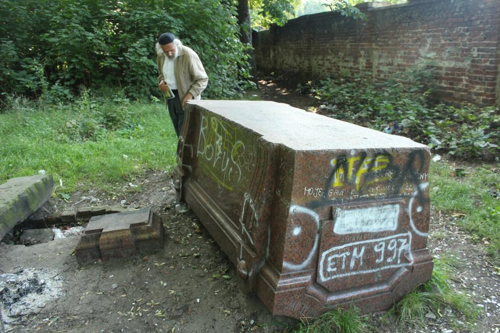 Vandalised Jewish cemetery in Tomaszow Mazowiecki