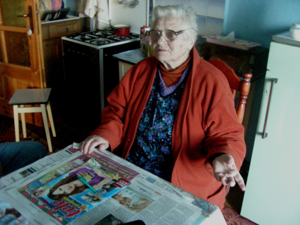 One of the oldest citizens of Sieniawa – Mrs Regina Jarosz in her house